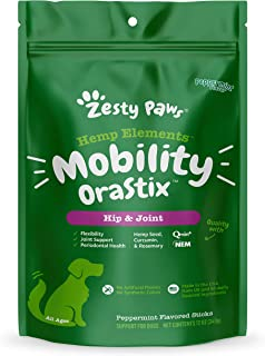 Zesty Paws Hip & Joint Mobility Sticks for Dogs - with Hemp Seed, Curcumin, Eggshell Membrane & Taurine - Support for Hips...