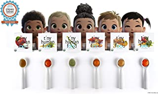 Fresh, Cold-Pressed, Organic Baby Food - Tiny Human Food - Curious Nibbler Sample Pack (6) 2PKS (12+ Meals)
