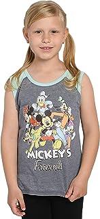 Disney Girls Mickey Mouse & Friends Sleeveless T-Shirt Tank Top (Grey, XL)