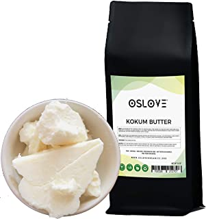 Kokum Butter 1 LB by Oslove Organics-Pure, Natural, Fresh, Thickener for Body Butters, Sunscreens, Soaps, Deodorants and L...
