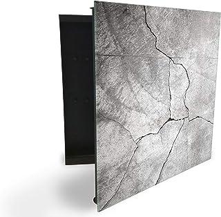 GlassArtist 134632226 Armoire à clés avec façade en Verre magnétique 30 x 30 cm