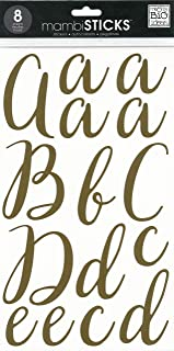 me & my BIG ideas STL-292 Stickers, Victoria/Gold Foil