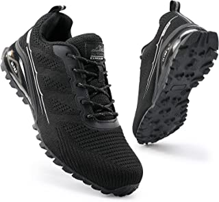 COOJOY Mens Trail Running Shoes Breathable Hiking Trekking Trainers Arch Support Walking Shoes