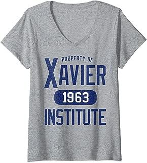 Womens Marvel X-Men Property Of Xavier Institute V-Neck T-Shirt
