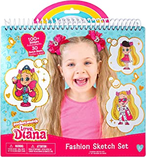 Fashion Angels Love, Diana Fashion Coloring Portfolio for Kids- Love, Diana Themed Coloring Book, Includes 30 Sketch Sheet...