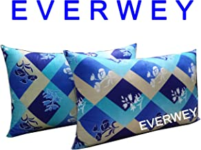 Everwey Enterprise Medium Hard Cotton Material Printed 17x27 inch 2 Pillow/Pillow Set