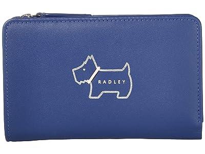 Radley London Heritage Dog Outline Medium Bifold Purse (Sapphire) Wallet Handbags