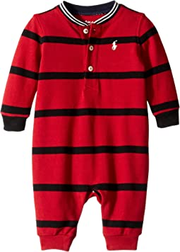 Cotton Mesh Henley Coverall (Infant)