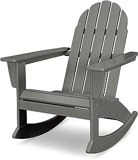 POLYWOOD Vineyard Adirondack Rocking Chair (Slate Grey)
