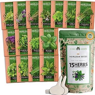 15 گیاه دارویی گیاه دارویی - گیاهان دارویی و غیر گیاهان دارویی - دانه های 4500 پلاس برای کاشت گیاهان داخل سالن و فضای باز باغ، ریحان، چیلترو، جعفری، چیپس، لاواندور، دیل، مرجور، نعناع، رزماری، آویشن