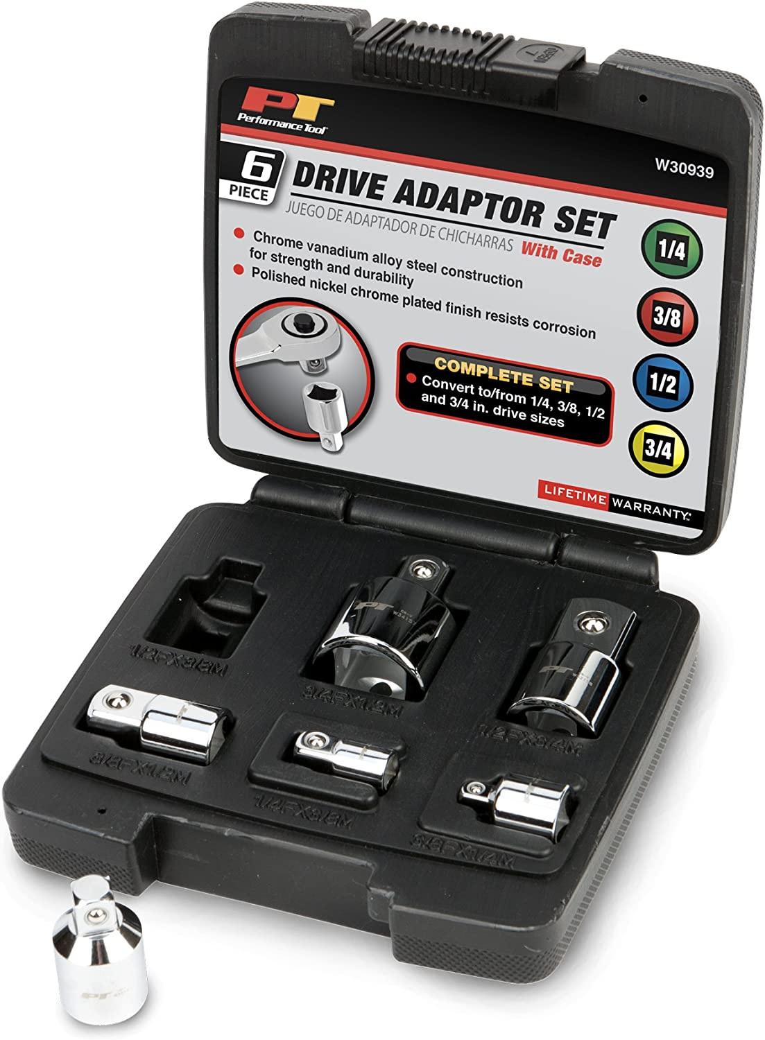 cheap Performance Tool W30939 Drive OFFicial shop Set Adaptor Case With