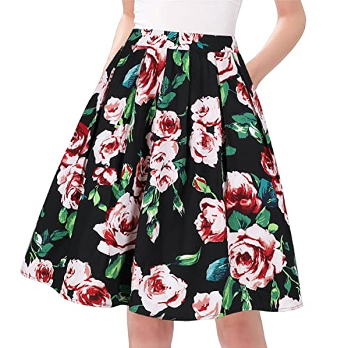 28321e9f538 Taydey A-Line Pleated Vintage Skirts for Women