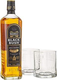 Bushmills BLACK BUSH Irish Whiskey mit Geschenkverpackung mit 2 Gläsern 1 x 0.7 l