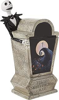 Vandor 55506 The Nightmare Before Christmas Tombstone Sculpted Ceramic Cookie Jar, White, Black
