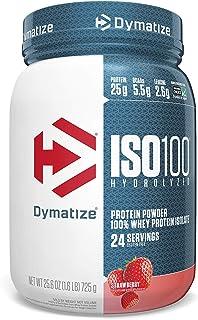 Dymatize ISO 100 Whey Protein Powder Isolate, Strawberry, 1.6 lbs