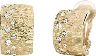 Traveller 157107 - Orecchini a clip con cristalli Swarovski, placcati oro 22 carati