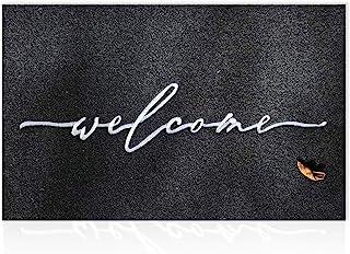تشک خوش آمدید برای درب جلو در فضای باز با پشتوانه لاستیکی ضد لغزش با دوام فوق العاده لجن آسان تمیز درب داخلی تمیز برای ورود به سیستم سنگین درب سیاه