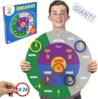 Litovative Ringahook Giant Ring Toss Wall Game for Boys, Girls, Teens and Adults. Garden Outdoor or Indoor Gift for Teen Boys and Girls. Can You Ringhook!…