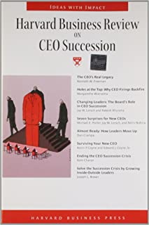 """""""Harvard Business Review"""" on CEO Succession"""