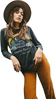 Life Clothing Co. Women's Tops Country Roads Take Me Home Fleece Pullover Sweater