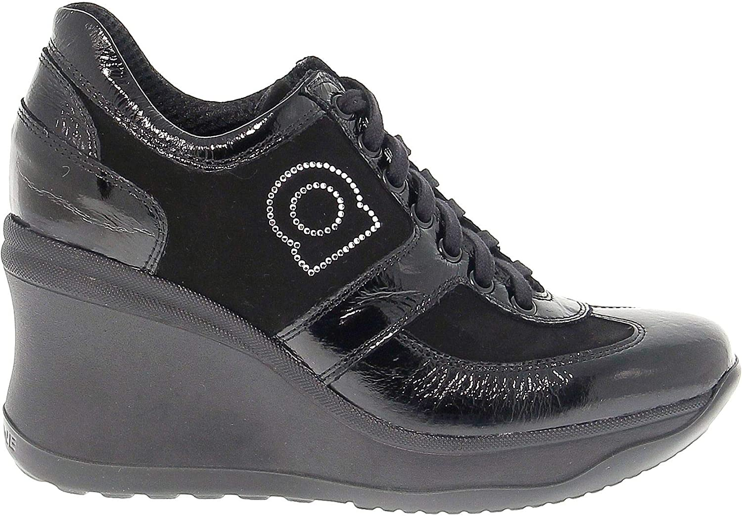 RUCO LINE Women's RUCO1800N Black Suede Sneakers