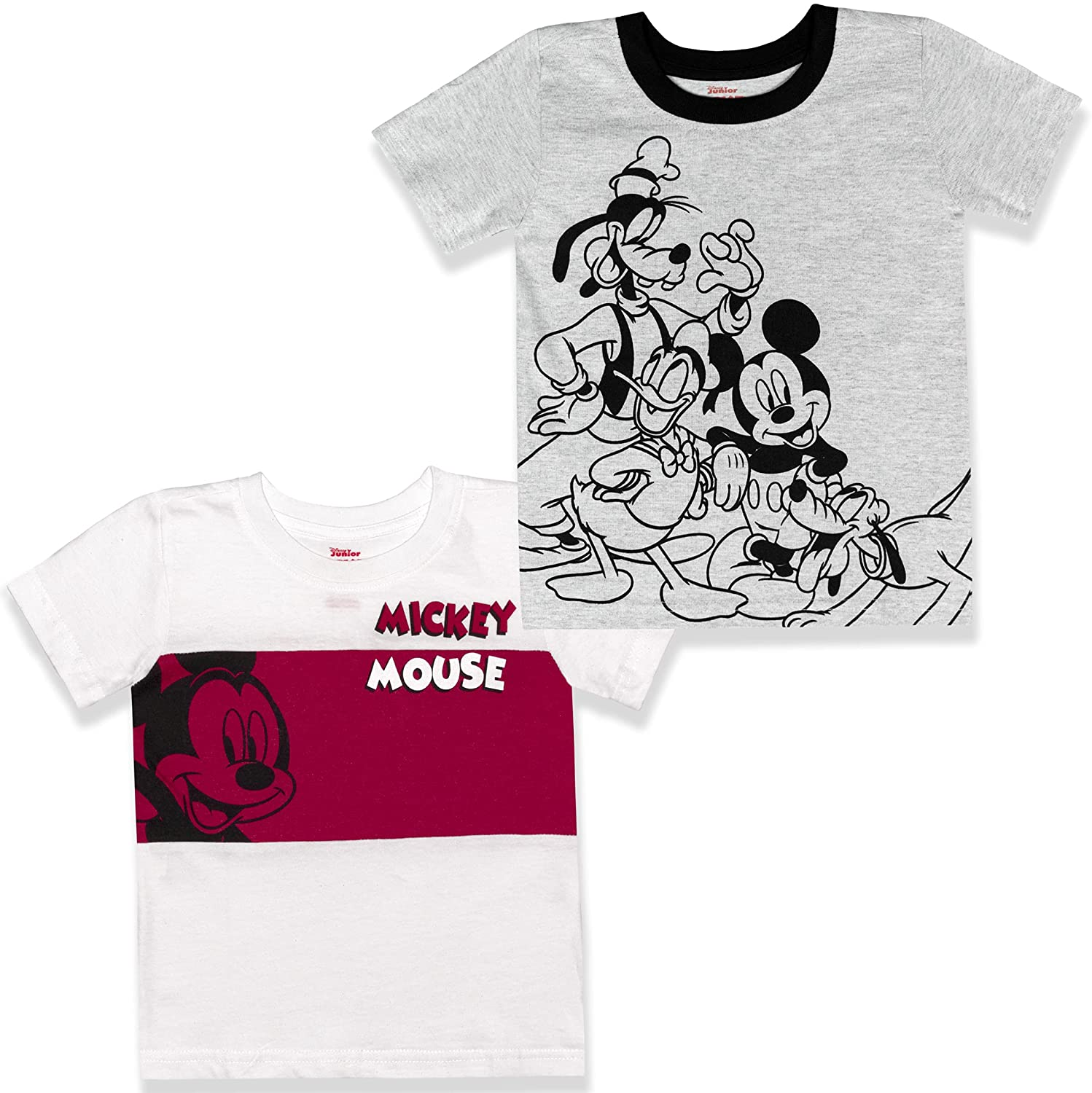 Disney Boy's 2-Pack Max 67% OFF Mickey Mouse Graphic 100% Tee Cot Set Shirt New item