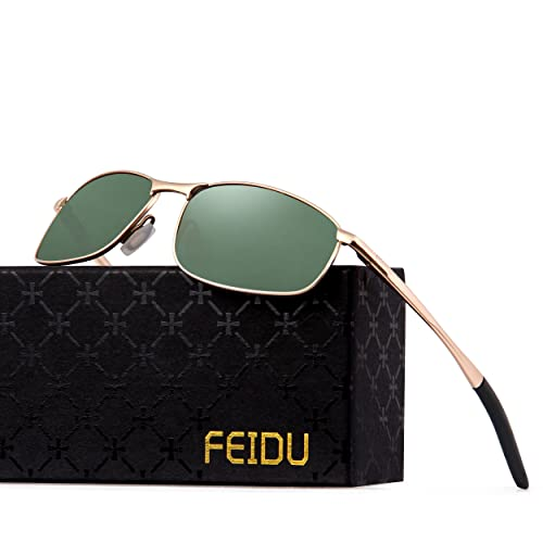 f5783ad91f FEIDU Polarized Sport Mens Sunglasses HD Lens Metal Frame Driving Shades FD  9005
