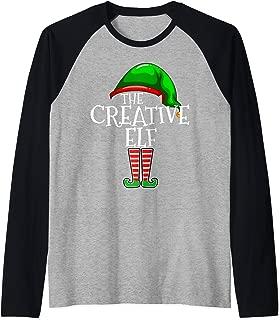 The Creative Elf Family Matching Group Christmas Gift Funny Raglan Baseball Tee