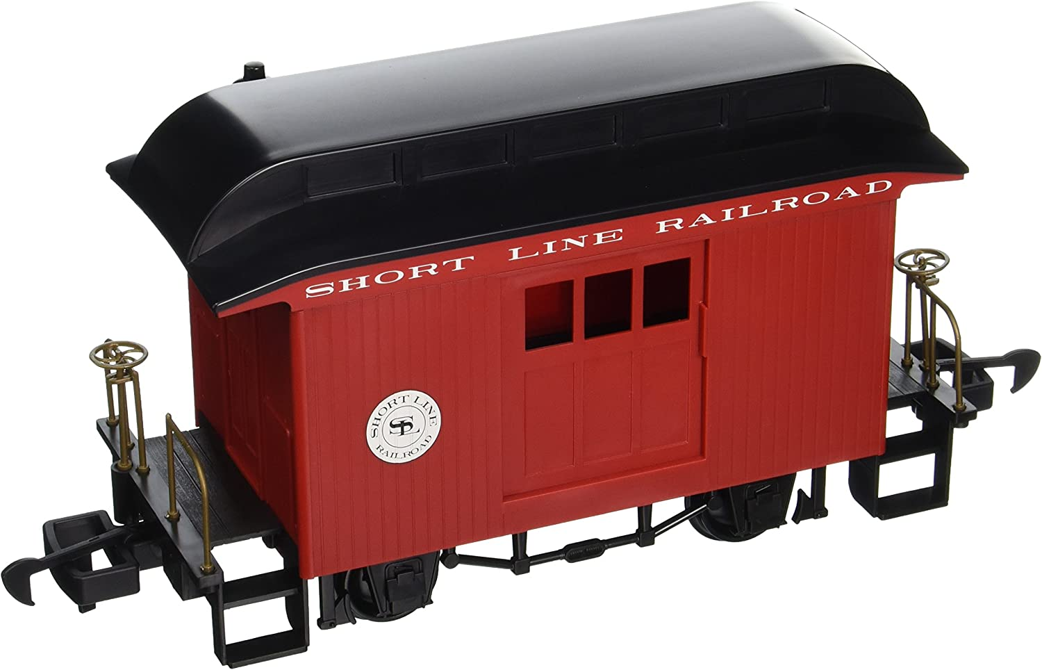 Bachmann Industries Li'L Big Haulers Baggage GScale Short Line Railroad with Red Black Roof, Large