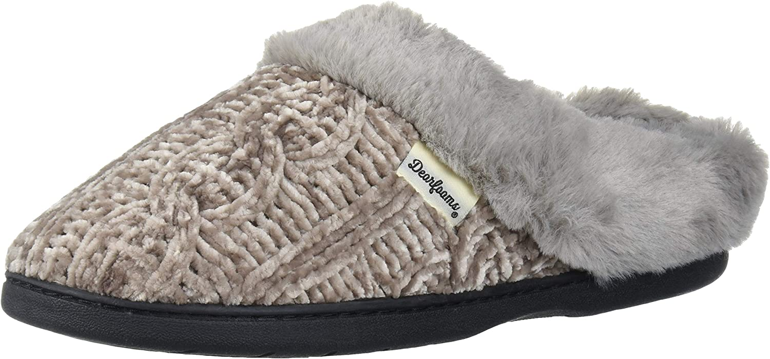 Gifts Dearfoams Women's Marled Cable Knit Chenille Widt Wide Clog with Max 55% OFF