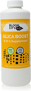 Organic Liquid Silica Boost Fertilizer and Supplement by Bloom City, Quart (32 oz) Concentrated Makes 180 Gallons