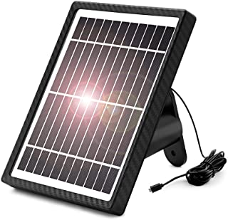 WONGKUO Waterproof Solar Panel for Outdoor Security Camera ,Solar Powered for WONGKUO Security Camera with 13ft Charging C...