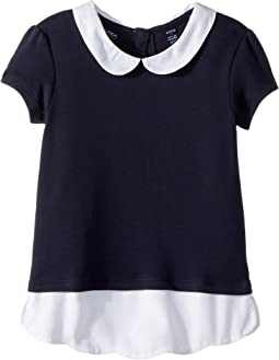Short Sleeve Interlock Twofer Top (Little Kids)