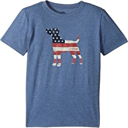 Life is Good Kids - Dog Flag Cool T-Shirt (Little Kids/Big Kids)