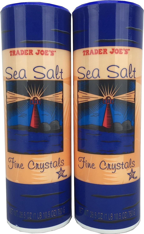 2==Trader Joe's Sea Salt Fine Crystals 26.5 oz. each