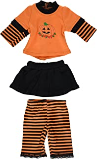 Unique Doll Clothing Pumpkin Halloween Outfit Baby-Doll-Accessories