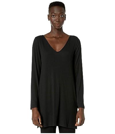 Skin Nikkayla Pima Cotton Sleep Shirt (Black) Women