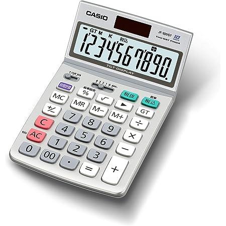 カシオ グリーン購入法適合電卓 10桁 ジャストタイプ JF-100GT-N エコマーク認定