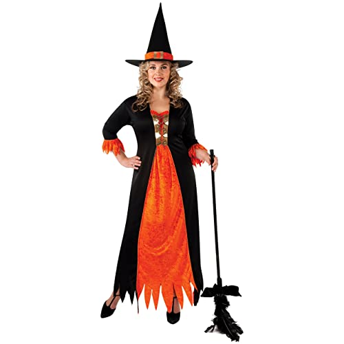 6476de2b57e Gothic Witch Costume - Plus Size With Dress And Hat Fancy Dress Party Ladies