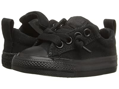 Converse Kids Chuck Taylor(r) All Star(r) Street Ox (Infant/Toddler) (Black Monochrome) Kid