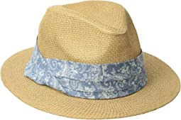 San Diego Hat Company Kids Paper Fedora w/ Paisley Band (Little Kids/Big Kids)