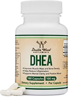 DHEA 100mg – 180 Capsules -Third Party Tested, Made in The USA (Max Strength, 6 Month Supply) Hormone Balance for Women an...