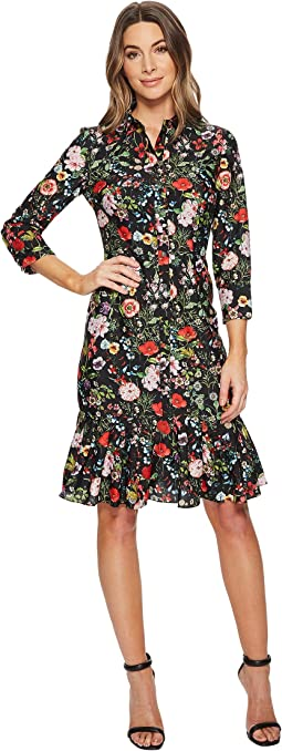 Adrianna Papell Bloom Printed Shirtdress