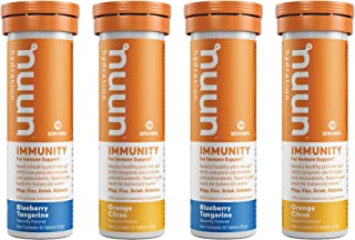 Nuun Immunity: Immune Support Hydration Supplement, Electrolytes, Antioxidants, Vitamin C, Zinc, Turmeric, Elderberry, Gin...