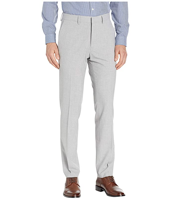 Kenneth Cole Reaction  Solid Gab Four-Way Stretch Slim Fit Dress Pants (Light Grey) Mens Casual Pants