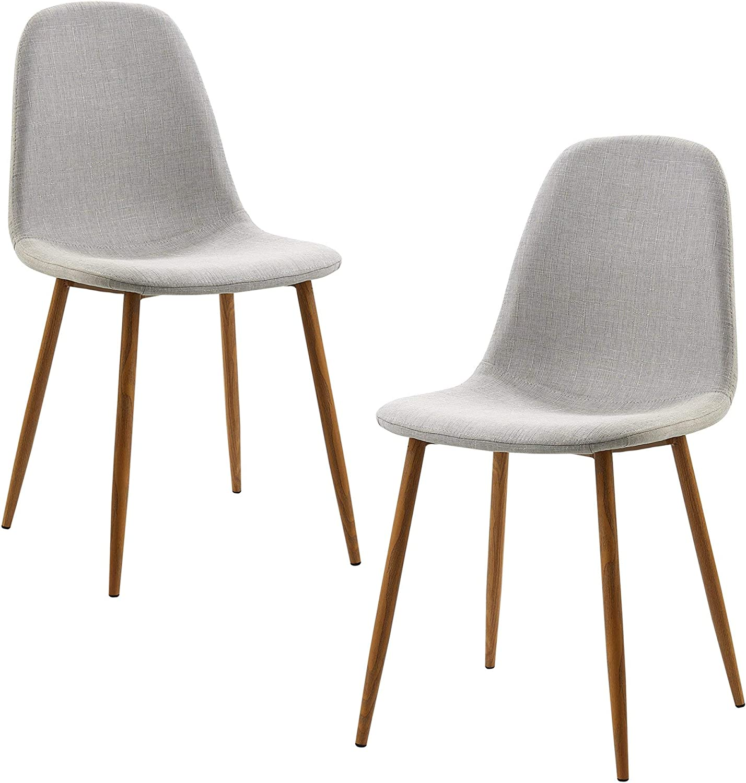 Versanora VNF-00025LG Minimalista Dining Chairs, Light Grey