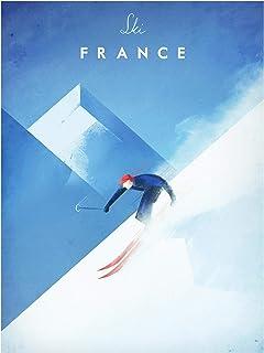Bilderwelten Pizarra magnética - Travel Poster - Ski In France 40x30cm