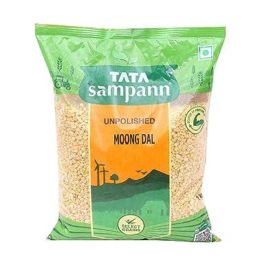 Tata Sampann Moong Dal - Unpolished, 1kg
