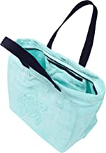 Vilebrequin Big Terry Cloth Beach Bag Jacquard Solid Lagoon, One Size