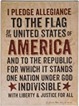 CWI Gifts Pledge of Allegiance Box Sign, Multi